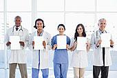 医疗组,站立,拿着,留白,正面,鲜明,窗户