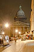 法国,巴黎,万神殿,夜晚