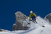 奥地利,阿勒堡,中年,男人,滑雪