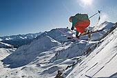奥地利,提洛尔,中年,男人,滑雪