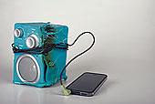 融化,扬声器,智能手机